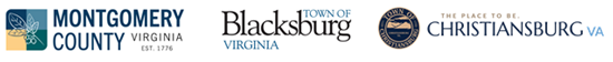 Montgomery County, Town of Blacksburg, and Town of Christiansburg Logos